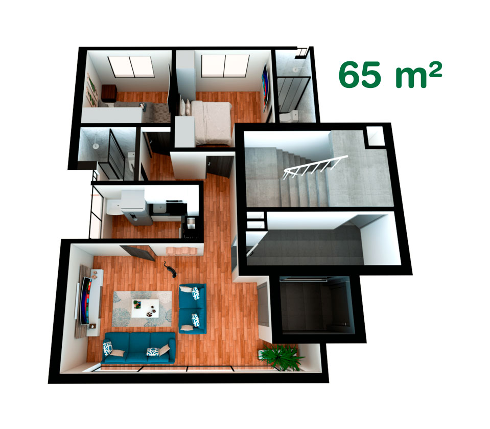 Departamento de 65 m² en California, Trujillo