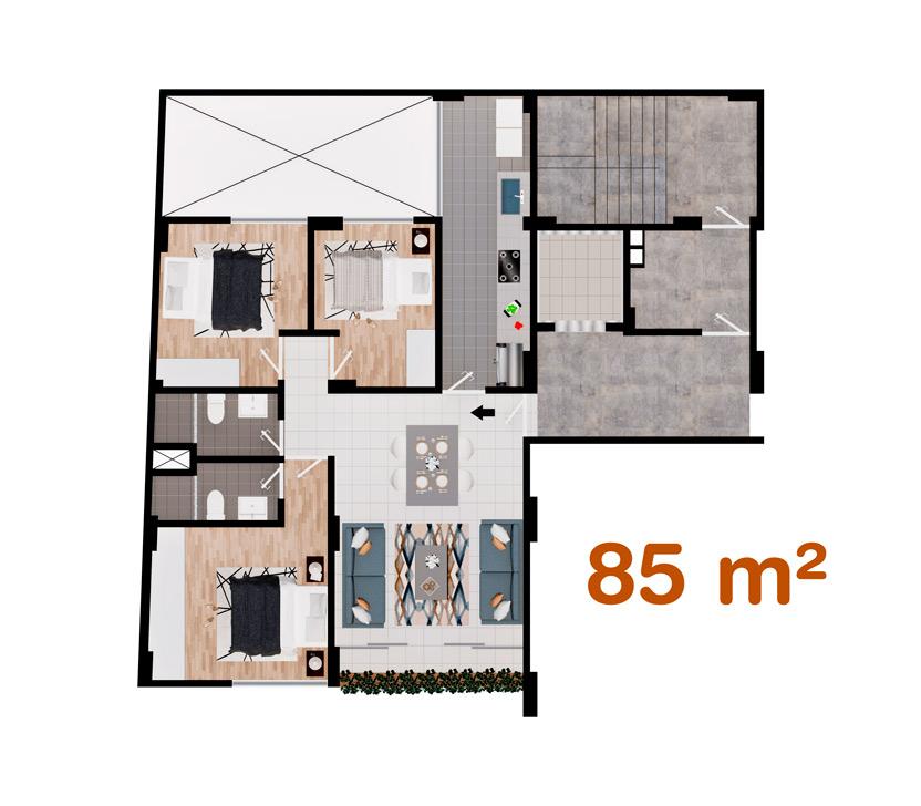 Departamento de 85 m² en Las Quintanas, Trujillo