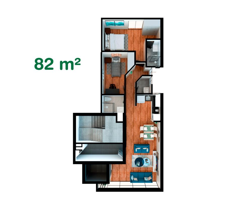Departamento de 82 m² en California, Trujillo