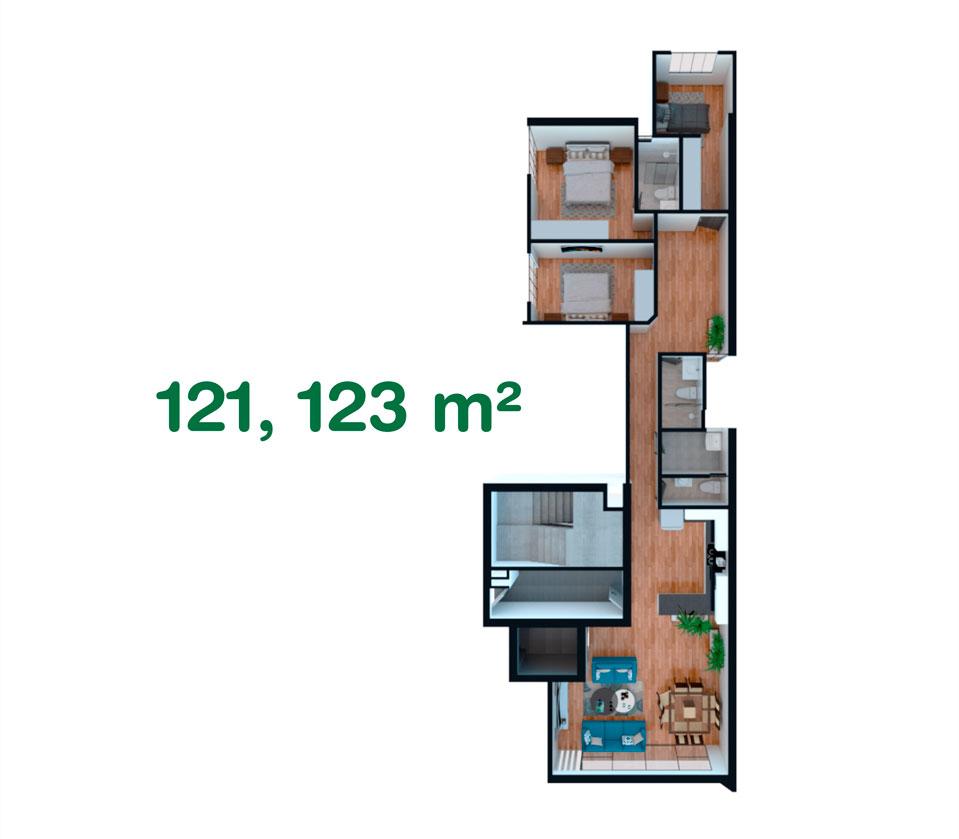 Departamento de 121, 123 m² en California, Trujillo