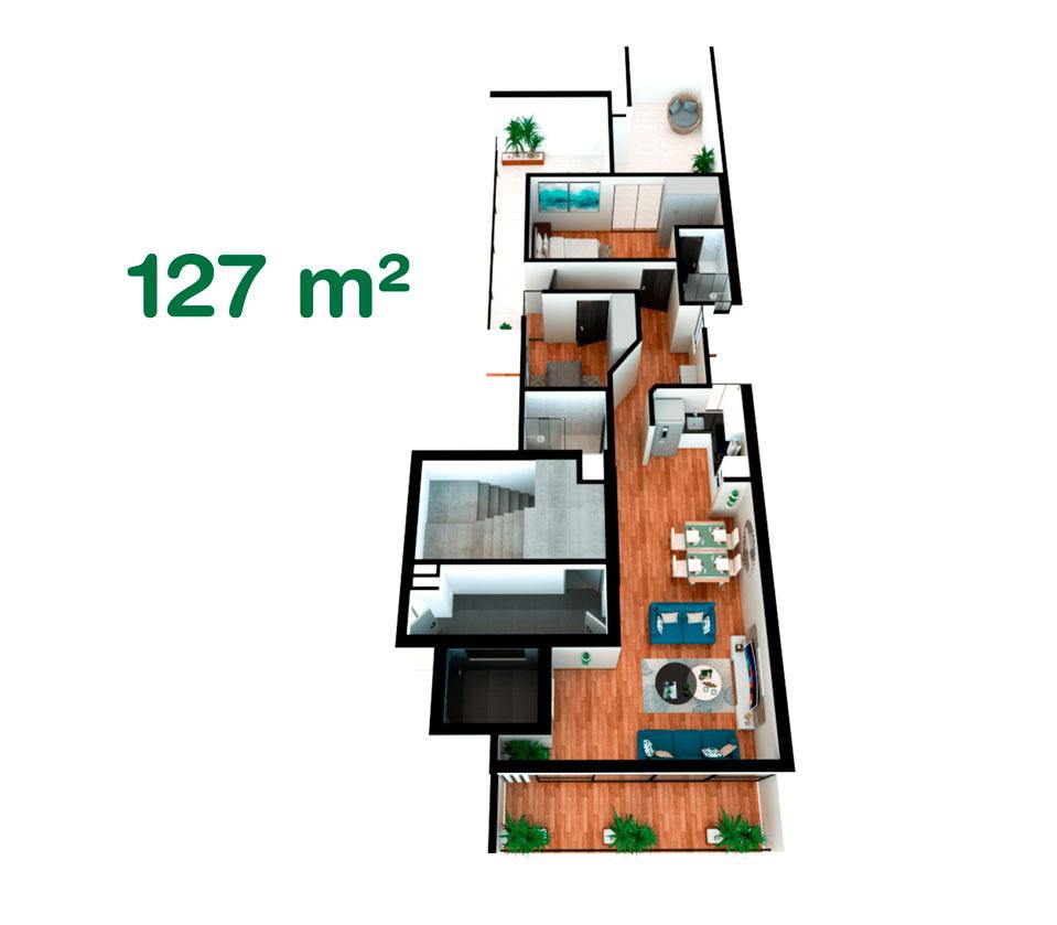 Dúplex de 127 m² en California, Trujillo