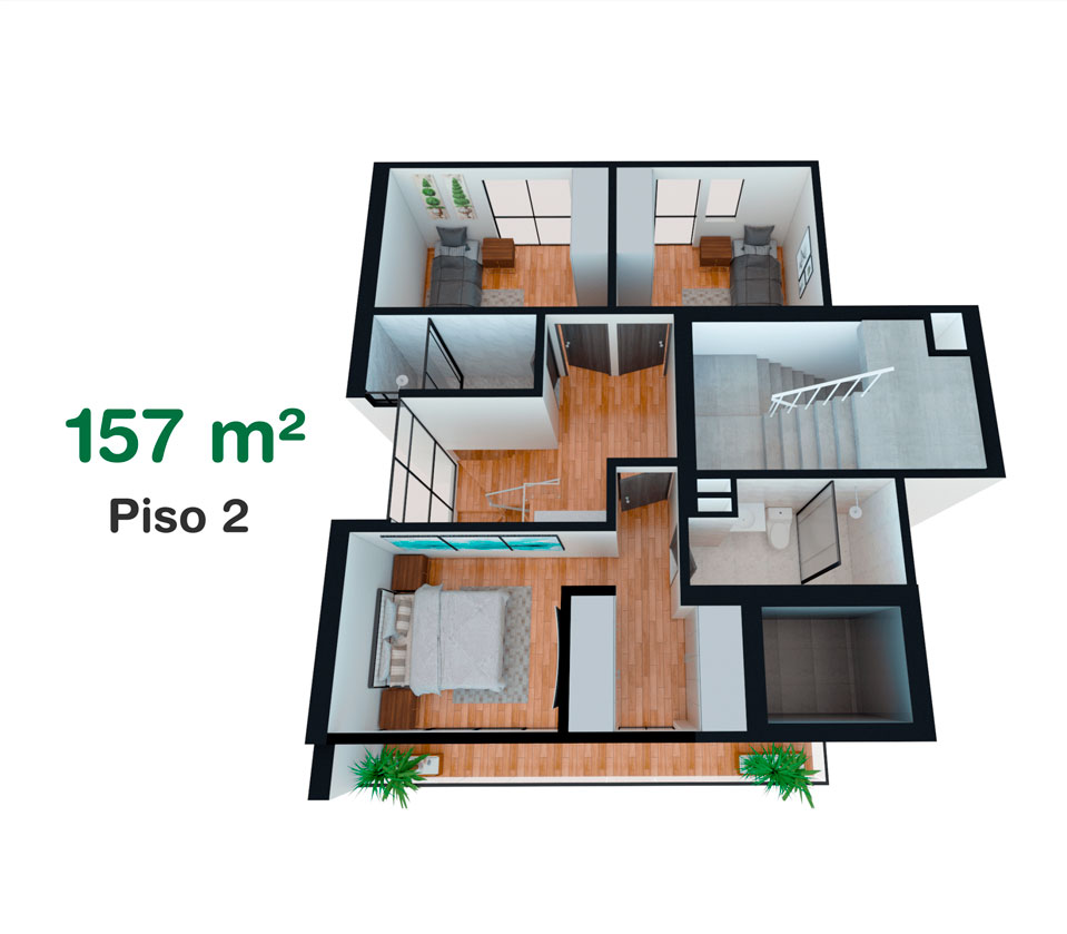 Dúplex de 157 m² en California, Trujillo