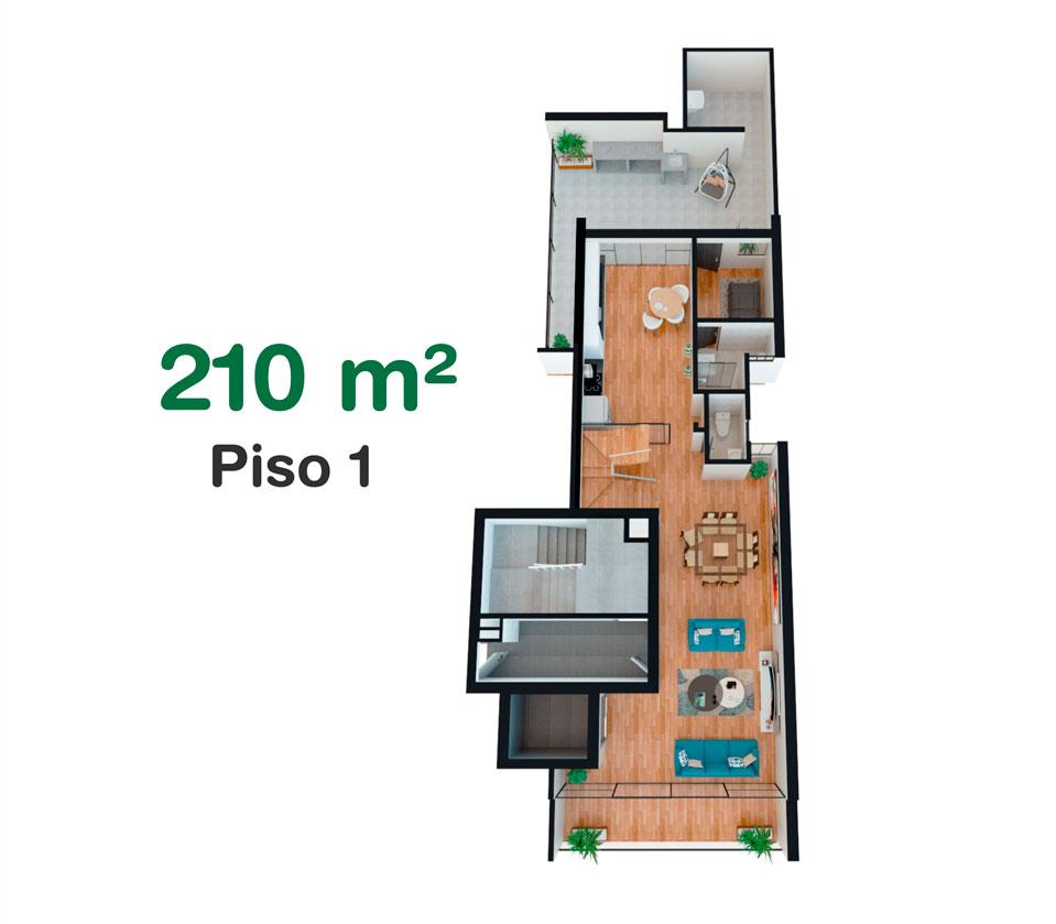 Dúplex de 210 m² en California, Trujillo